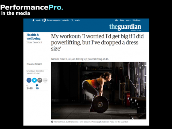 In the Guardian with PerformancePro