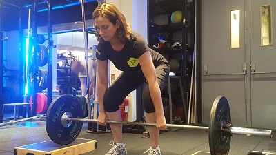 Lifestyle fitness at PerformancePro - Louise Hunt in action