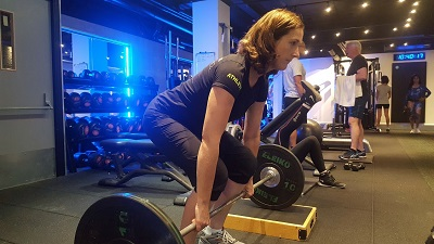 Lifestyle fitness at PerformancePro - Louise Hunt in training