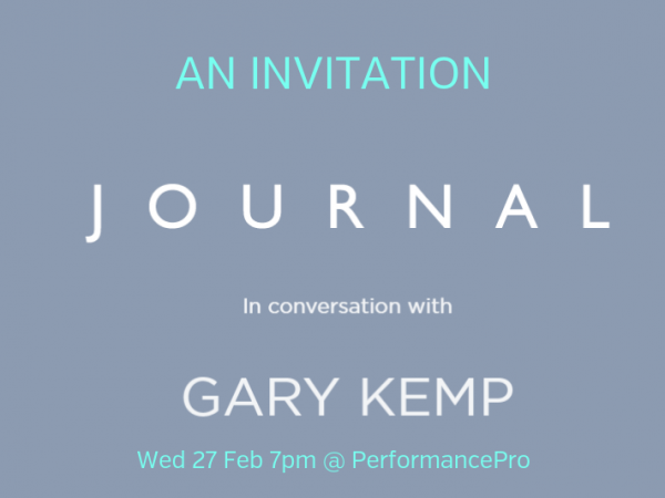 Journal with Gary Kemp at PerformancePro